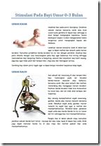 Stimulasi Bayi Umur 0 - 3 Bulan