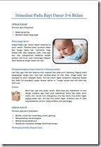 Stimulasi Bayi Umur 3 - 6 Bulan
