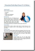 Stimulasi Bayi Umur 9 - 12 Bulan